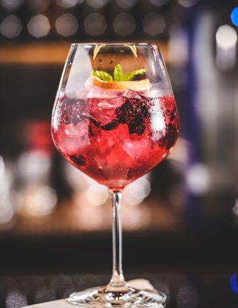 G&T Hibisco - gin com infusão de hibiscos, ervas aromáticas e tônica.